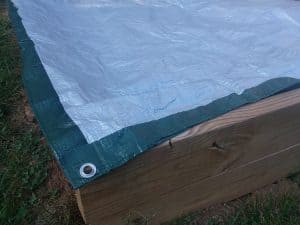 Raised Bed Covered Up by a tarp